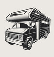 a camping van vector image