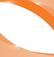 Abstract light orange wave background vector image vector image