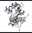 abstract tatoo fish vector image vector image