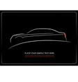 al 0350 car silhouette vector image vector image