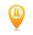 aqualung symbol on yellow map pointer vector image vector image