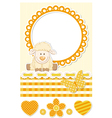 Baby sheep sunny scrapbook set vector image vector image