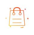 bag retail sales shopping icon design vector image