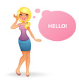 Beautiful and young woman character image vector image vector image