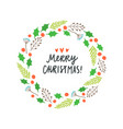 beautiful christmas plant laurel vector image vector image