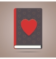 Book with heart shape vector image
