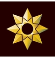 Bright golden star in poligonal style vector image