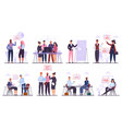 business team characters teamwork business vector image vector image