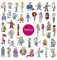 cartoon people characters huge set vector image vector image