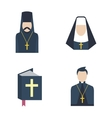 Catholic priest icon vector image vector image