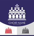 choir christian church vector image vector image