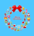 christmas wreath assembled from traditional vector image vector image