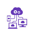 cloud computing technologies icon vector image