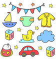 collection stock of baby element set vector image vector image