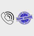 contour call phone icon and distress phone vector image vector image