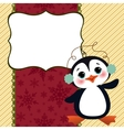 Cute christmas new Year postcard template vector image vector image