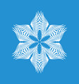 decorative snowflake icon simple style vector image vector image