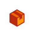 delivery box icon design vector image vector image