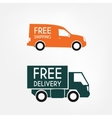 Delivery trucks vector image vector image