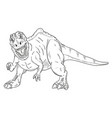 dinosaur attacking vector image