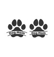 dog mom dog puppy cat paw silhouette icons set vector image vector image