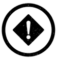 Error Rhombus Icon Rubber Stamp vector image
