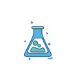 flask lab icon design vector image