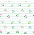 floral seamless pattern embroidery tulips on the vector image vector image