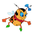 funny little bumble bee eps 10 vector image vector image