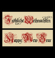 gothic christmas calligraphy uncial fraktur vector image vector image