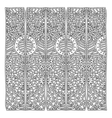 grayscale pattern with geometric figures with vector image vector image