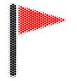 halftone dot triangle flag icon vector image