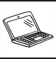 hand draw doodle laptop vector image
