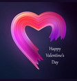 happy valentines heart liquid brush shape color vector image vector image
