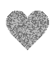 heart halftone design elements Graphic vector image vector image