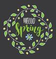Hello spring calligraphy lettering handwritten