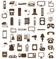 household appliances icons on white vector image vector image