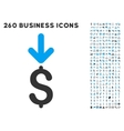 Income Dollar Icon with Flat Set vector image vector image