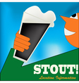 Irish Stout Drinker vector image