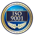 ISO 9001 vector image vector image