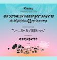 kahaluu handwritten script font brush font vector image vector image