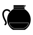 kitchen teapot isolated icon vector image vector image