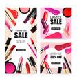 lip makeup realistic sale banners
