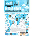 media analysis and public opinion infographics vector image vector image