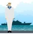 Military Uniform Navy sailor-5 vector image vector image