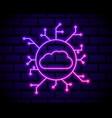 neon cloud hosting icon glowing neon cloud vector image
