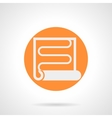 Orange round icon for heat coil vector image vector image