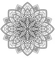 ornamental filigree mandala vector image
