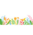 panorama banner colorful spring flowers vector image vector image