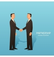 Partnership business conceptual with vector image vector image